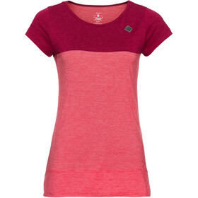 Triple2 Tuur Merino Tencel T-shirt Dames, beet red
